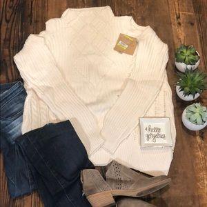 SUPER SOFT Cold Shoulder Knit Cozy Sweater